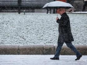 ливень с сырым снегопадом