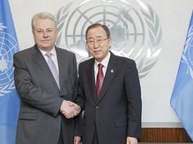 Владимир Ельченко и Пан Ги Мун