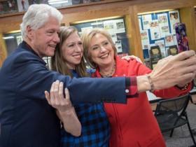 селфи семьи Клинтон