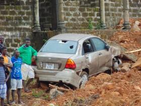Оползень в Сьерра-Леоне