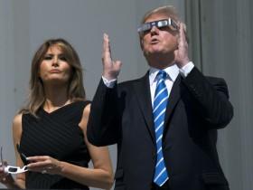 трамп, затмение Солнца