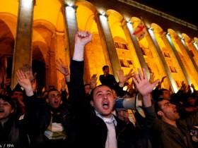 Главные улицы Тифлис блокированы оппозицией