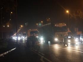 перекрытие въезда в Киев