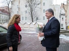 Жюли Пейетт и Порошенко
