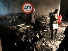 сгорели пять авто