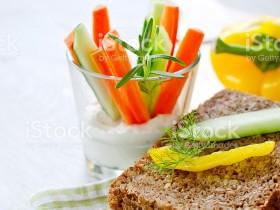 Цельные зерна и овощи
