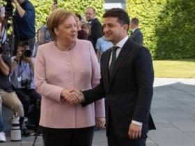 Зеленский. Меркель
