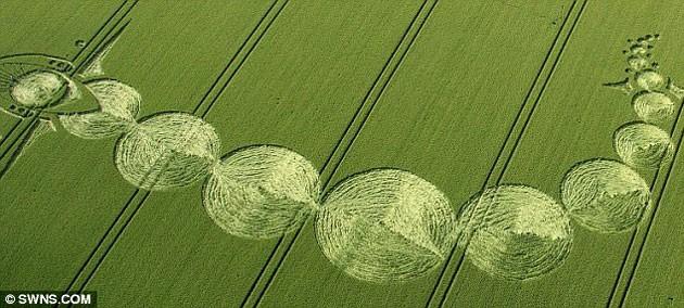 В Великобритании замечены таинственные круги на фонах