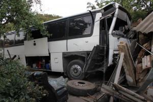 На Киевщине автобус с пассажирами налетел в дом
