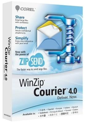 WinZip Courier 4 снабдит стремительную пересылку документов в e-mаil