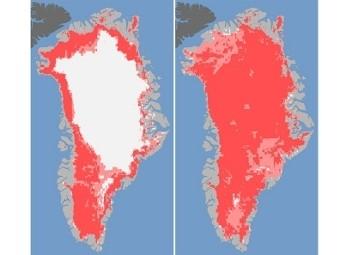 Из-за теплого лета Гренландия изменилась до неузнаваемости