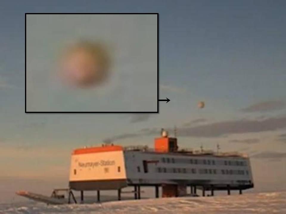 Над Антарктидой сфотографировали НЛО