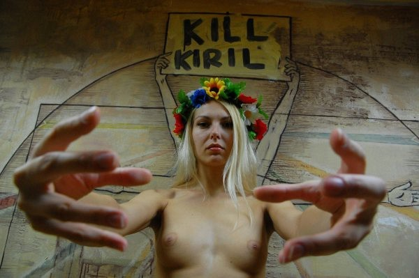 FEMEN забанены в социальных сетях и блогах за лозунг «Kill Kirill»
