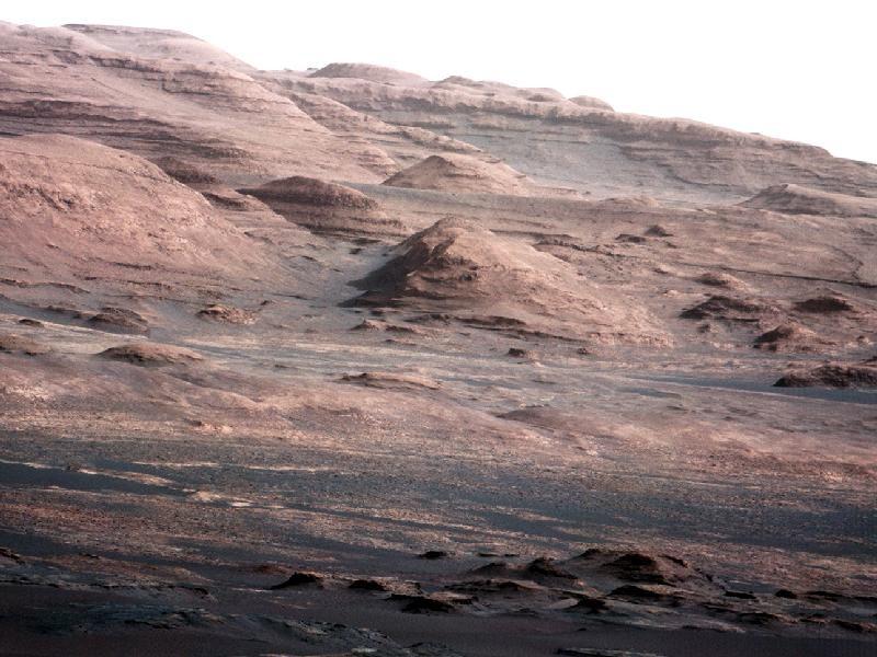 Марсоход нашел удивительное геологическое формирование