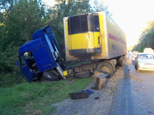 На автотрассе лоб в лоб встретилась телега с грузовым автомобилем
