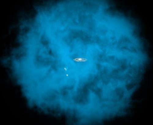 Галактику охватывает таинственное громадное скопление газа