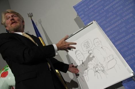 Знаменитый дизайнер написал карикатуру в Украину (Фото)