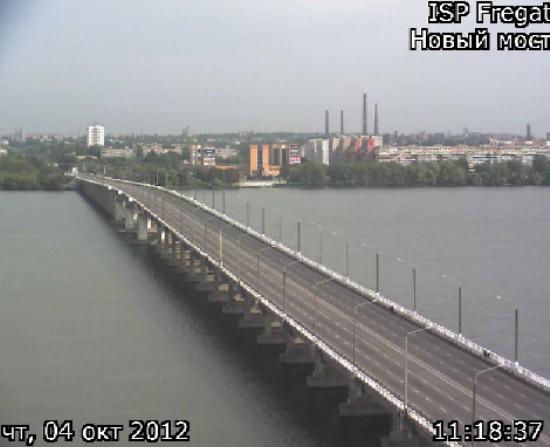 Кортежу Вице-президента в городе Днепропетровск отпустили мост