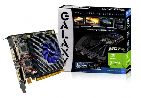 Галакси предлагает графические ускорители марки GeForce