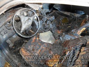 На Одесщине - воровство с поджогом (фото)