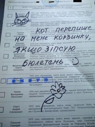 Украинцы избирали за Чака Норриса, Брейвика и Румба