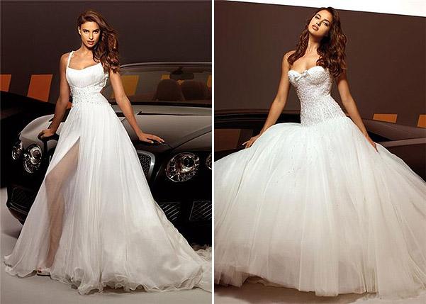 Какое платье ей к лицу больше всего, как вы считаете?