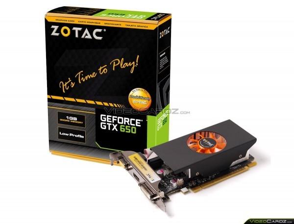ZOTAC действует над видом ускорителя GeForce GTX 650 LP