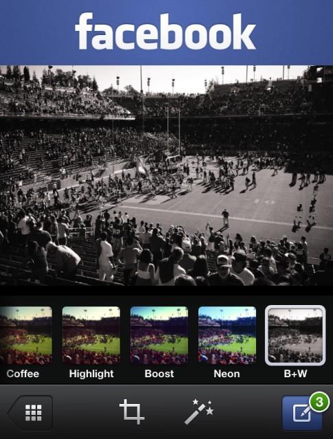 Фейсбук добавила фотофильтры для снимков