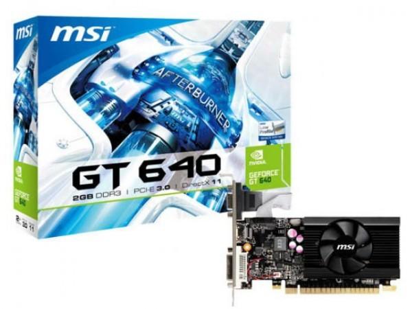 MSI делает низкопрофильный GeForce ДжиТи 640