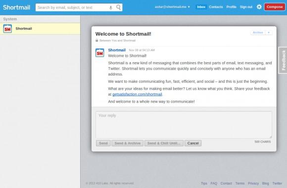 Сегодня веб-сайтом дня оглашается сервис Shortmail