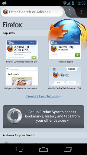 Вышла новая модификация Firefox для Андроид