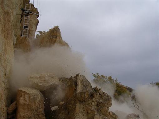 В Крыму уничтожили скалу-убицу