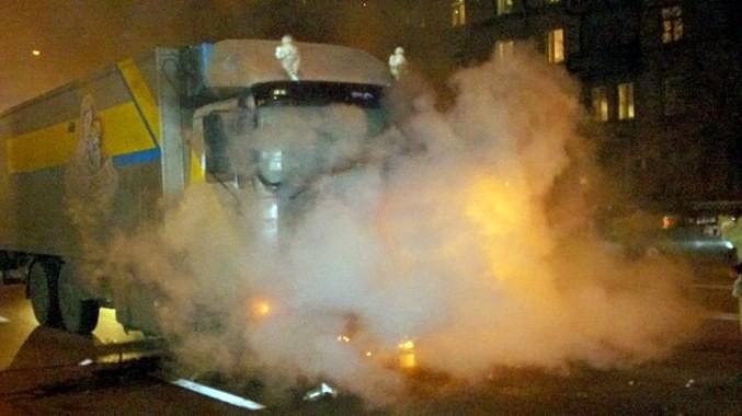 В Киеве на ходу зажглась канистра
