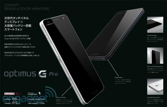 «ЭлДжи» Оптимус G Pro: 4 ядра и  Full HD дисплей