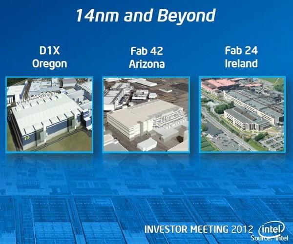 Изготовление 14-нм Intel Broadwell стартует в конце 2014-го
