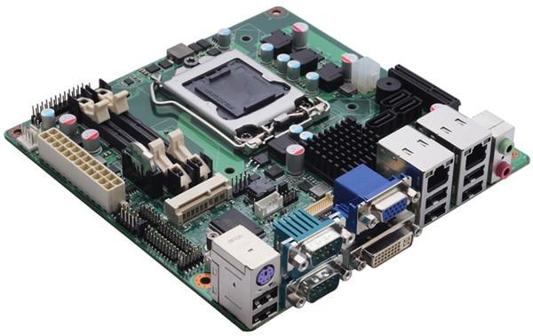 MANO861: материнка Mini-ITX на Intel H61 для Ivy Bridge