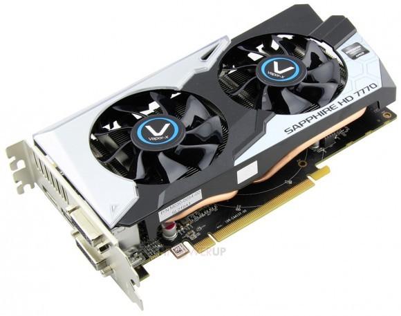 Sapphire Radeon HD 7770 с кулером Vapor-X White Diamond