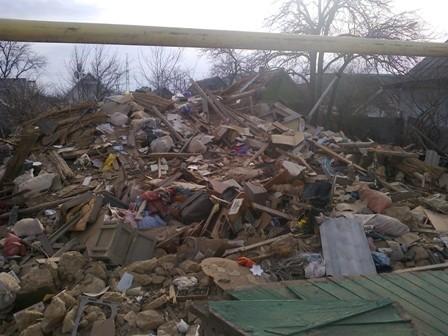 В Новой Каховке подорвался дом