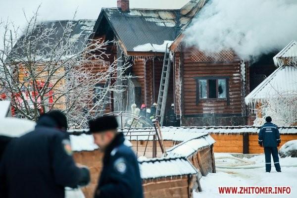В Житомире целиком сгорел развлекательный комплекс