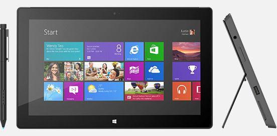 Майкрософт Surface Виндоус 8 Pro по стоимости от $900 с 9 марта