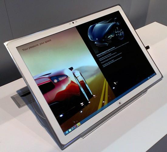 """20"""" образец планшетника с экраном Ultra HD от Sony"""