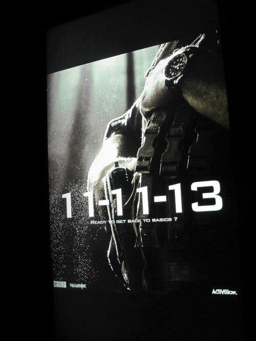 Фото: Плакат продолжения Call of Duty с датой утек в интернет