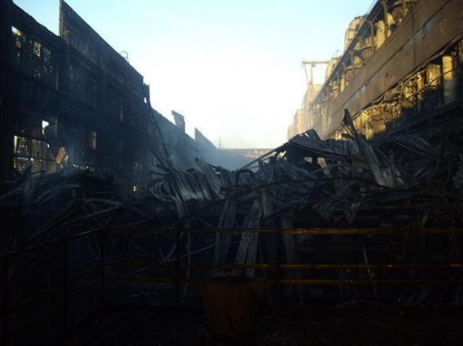 Углегорская ТЭС сгорела дотла (ФОТО)