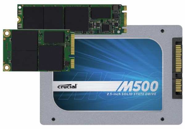 Вышли SSD-накопители Crucial М500 3-х форматов