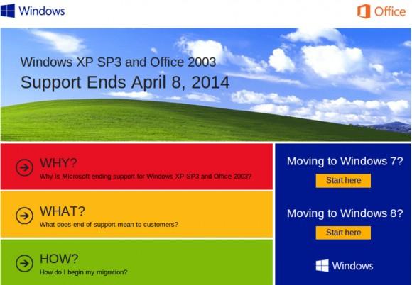 До окончания помощи Windows 7 и Офис 2003 остался год