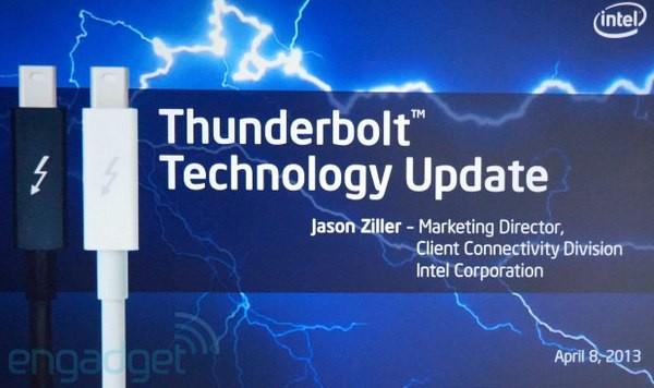 Внешний вид Thunderbolt с пропускной возможностью 20 Гбит/с