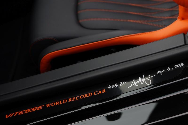 Bugatti Veyron с предельной скоростью 408,84 км/ч