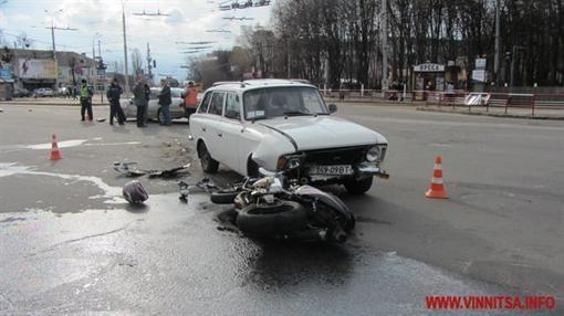 """Троичное ДТП случилось в Виннице из-за """"мотоцикла"""" (ФОТО)"""