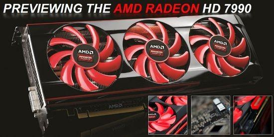 Карта памяти AMD Radeon HD 7990 вскоре в реализации