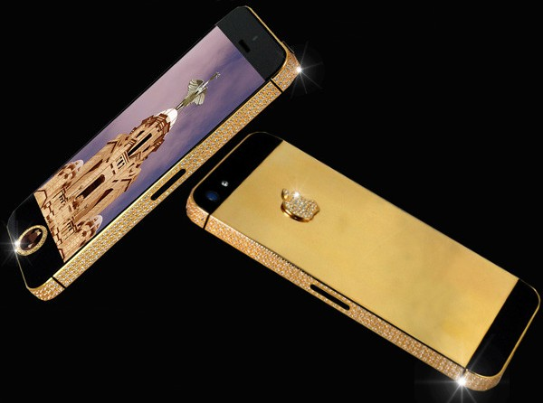 Представлен золотойiPhone 5 с алмазами за $15,3 млрд